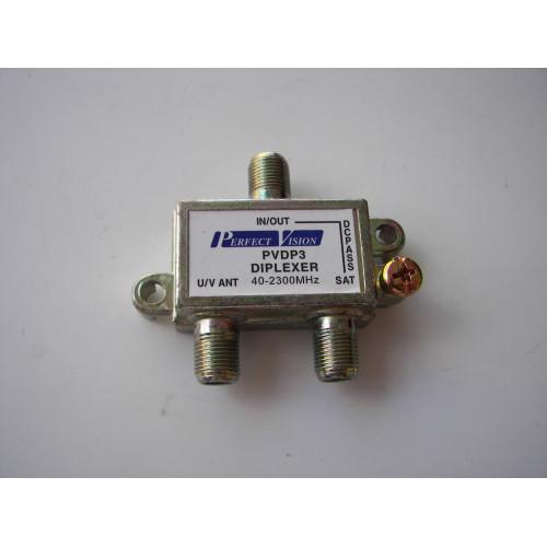Perfect Vision PVDP3 40-2300 MHZ Diplexer