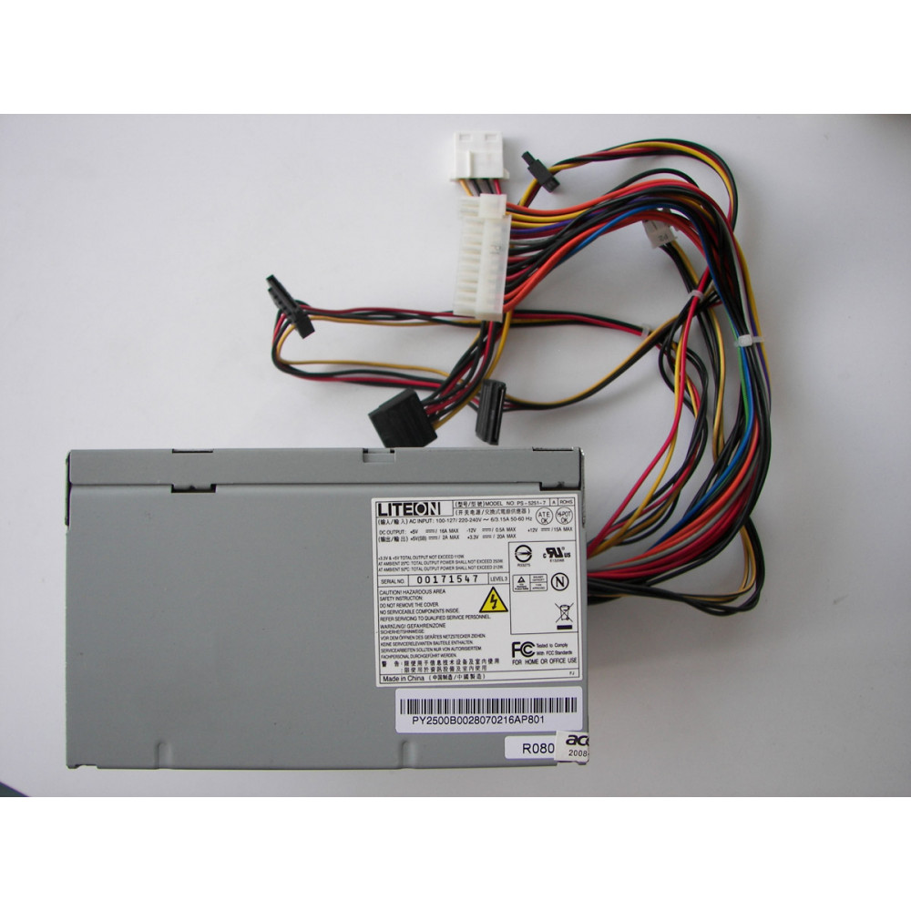 Lite-On PS-5251-7 250W ATX Power Supply SN00171547
