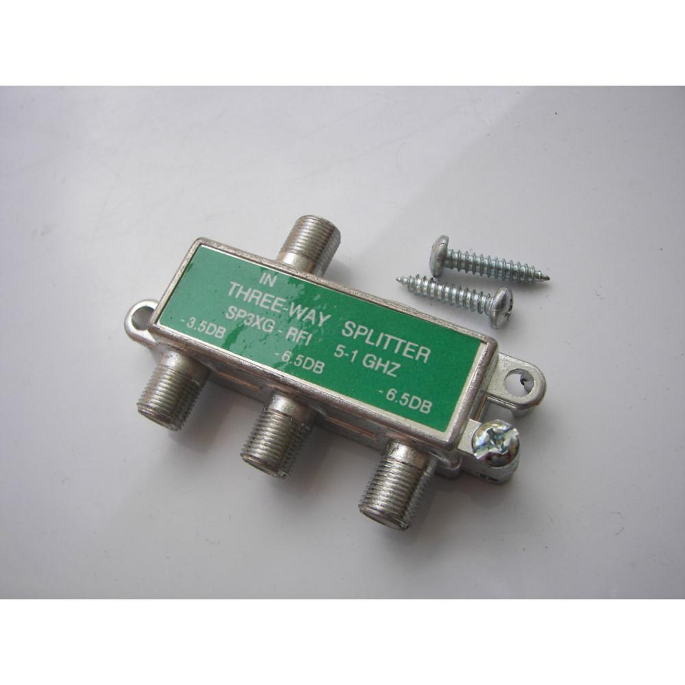 Generic 5 MHz - 1 GHz 3-Way High-Performance Cable Splitter SP3XG-RFI