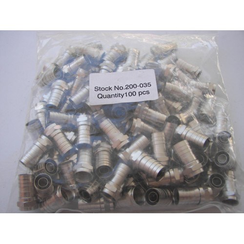 Generic 200-035 Crimp-On F Connector 100 pcs