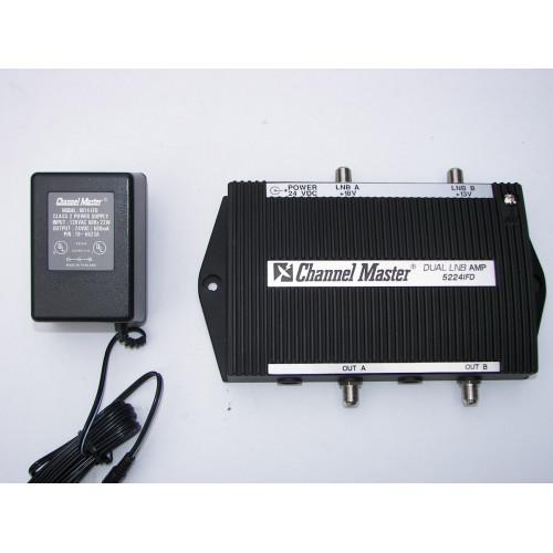 Channel Master 5224-IFD 5224IFD Dual Satellite Headend Amp/LNB Power Supply
