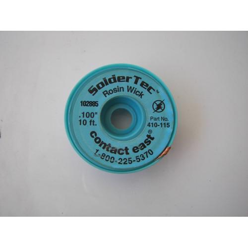 Solder Tec 410-115 Rosin Wick 10ft