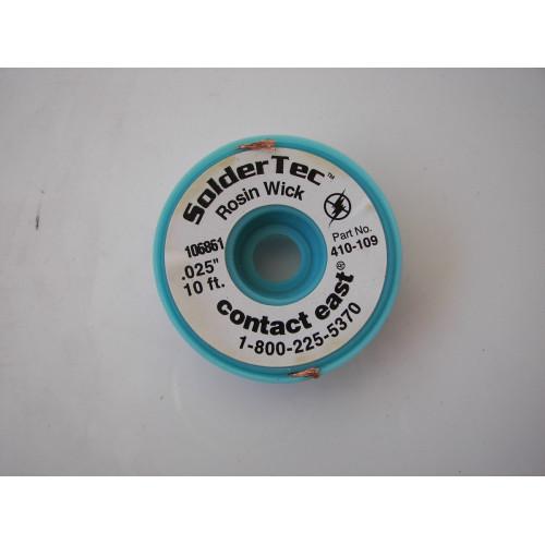 Solder Tec 410-109 Rosin Wick 10ft