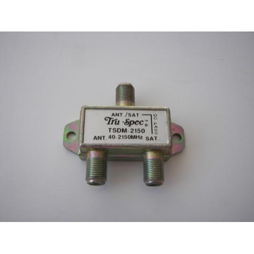 Tru-Spec TSDM-2150 Diplexer Splitter 40-2150 MHz