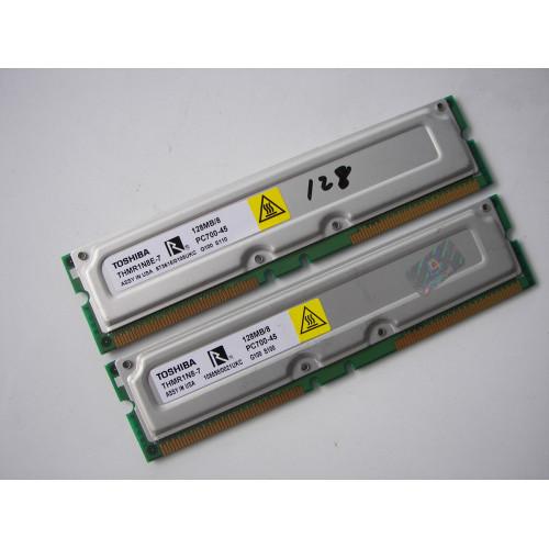 TOSHIBA THMR1N8E-7 RAMBUS PC700-45 PC700-45 128 MB RAM  Desktop Memory
