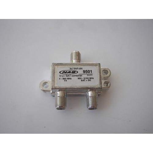 NAS STD-9501M Satellite / Off Air Diplexer Power Passing (STD-9501)