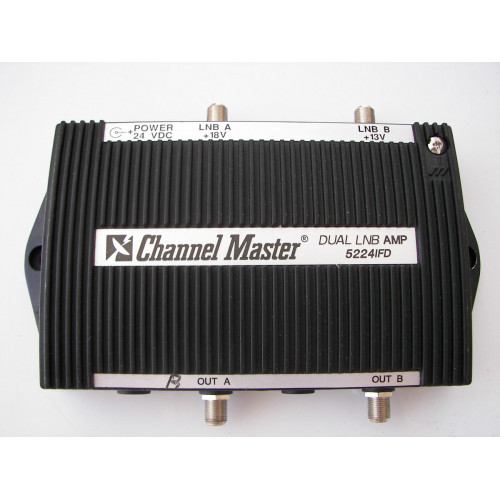 Channel Master Dual Polarization Headed with LNB Amplifier 5224IFD  UNIT ONLY