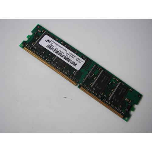 Micron 128MB PC2100 DDR-266MHz non-ECC Unbuffered CL2.5 184-Pin DIMM Memory Module Mfr P/N MT4VDDT1664AG-265B1