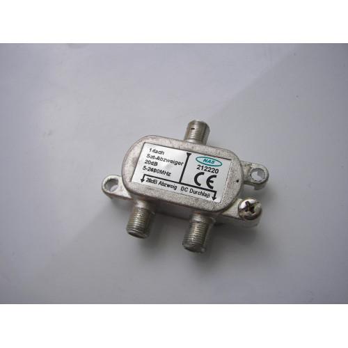 NAS 212220 5-2400MHz 20dB 2-Way Satellite Signal Splitter