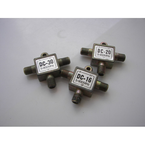 Lot of 3 Generic 2-way Mini Splitters DC-30 DC-20 DC-16 5-900 MHz